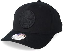 Golden State Warriors Tonal Pinch Panel Black/Black 110 Adjustable Mitchell Ness