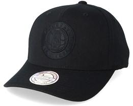 Brooklyn Nets Tonal Pinch Panel Black/Black 110 Adjustable Mitchell Ness