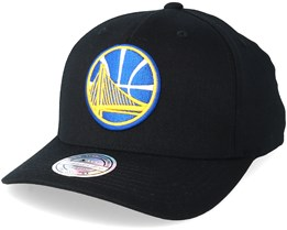 Golden State Warriors Tonal Pinch Panel Black 110 Adjustable Mitchell Ness