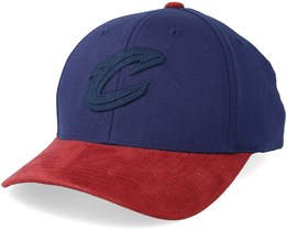 Cleveland Cavaliers Suede Navy/Burgundy 110 Adjustable - Mitchell & Ness
