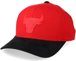 Chicago Bulls Suede Red/Black 110 Adjustable - Mitchell & Ness