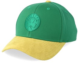 Boston Celtics Suede Green/Yellow 110 Adjustable - Mitchell & Ness