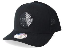Detroit Pistons Zig Zag 110 Black Trucker - Mitchell & Ness