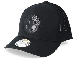 Boston Celtics Zig Zag 110 110 Black Trucker - Mitchell & Ness