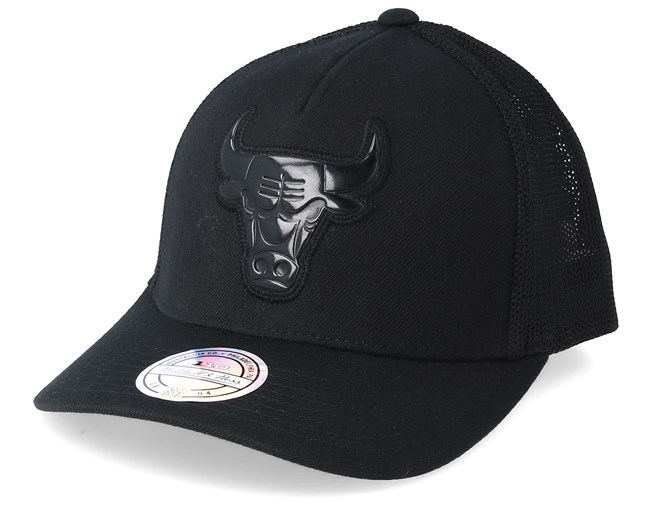 2760a924f90 Chicago Bulls Zig Zag 110 Black Trucker - Mitchell & Ness caps -  Hatstoreworld.com