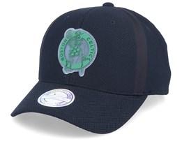 Boston Celtics Hideout Mesh Black 110 Adjustable - Mitchell & Ness
