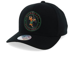 Milwaukee Bucks Circle Weald Patch Black 110 Adjustable - Mitchell & Ness