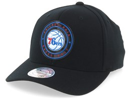 Philadelphia 76ers Circle Weald Patch Black 110 Adjustable - Mitchell & Ness