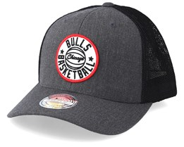 Chicago Bulls Patch Heather Charcoal/Black 110 Trucker - Mitchell & Ness