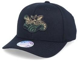 Charlotte Hornets Camo Logo Black/Camo 110 Adjustable - Mitchell & Ness