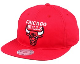 Chicago Bulls Deadstock Throwback Red Snapback - Mitchell & Ness