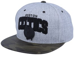 Boston Celtics Lux Light Heather Grey/Camo Sanpback - Mitchell & Ness