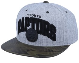 Toronto Raptors Lux Light Heather Grey/Camo Sanpback - Mitchell & Ness