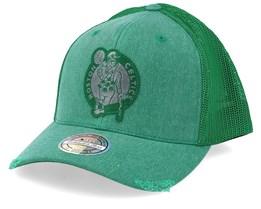 Boston Celtics Overdyed Green Trucker - Mitchell & Ness