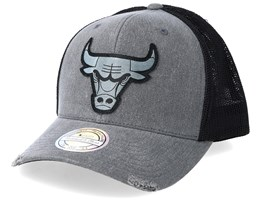 Chicago Bulls Overdyed Charcoal/Black Trucker - Mitchell & Ness