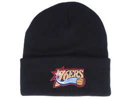 Philadelphia 76ers Team Logo Black Cuff - Mitchell & Ness