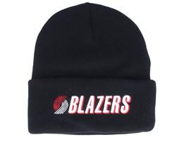 Portland Trail Blazers Team Logo Black Cuff - Mitchell & Ness