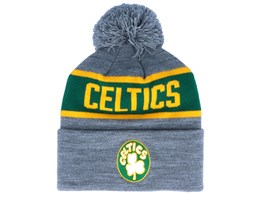 Boston Celtics Team Tone Grey/Green Pom - Mitchell & Ness