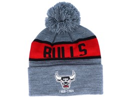 Chicago Bulls Team Tone Grey/Red Pom - Mitchell & Ness