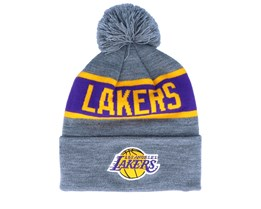 LA Lakers Team Tone Grey/Purple Pom - Mitchell & Ness