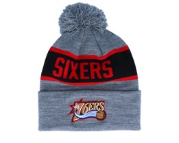 Philadelphia 76ers Team Tone Grey/Black Pom - Mitchell & Ness