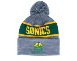 Seattle Supersonics Team Tone Grey/Green Pom - Mitchell & Ness