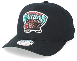Vancouver Grizzlies Cotton High Crown Pinch Panel Black 110 Adjustable - Mitchell & Ness