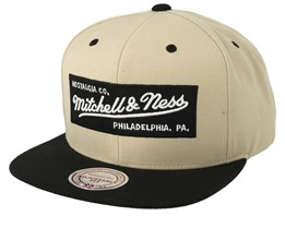 Own Brand Box Logo Khaki/Black Snapback - Mitchell & Ness