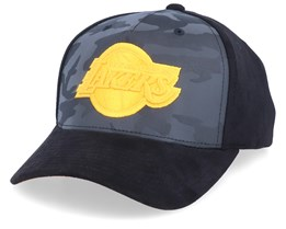 LA Lakers Reflective Camo/Black Adjustable - Mitchell & Ness