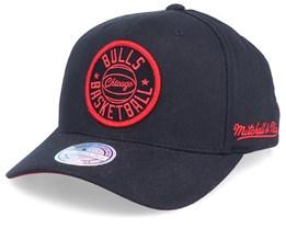 Chicago Bulls Vision High Crown Black 110 Adjustable - Mitchell & Ness