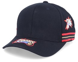 Philadelphia 76ers Aerial Black 110 Adjustable - Mitchell & Ness