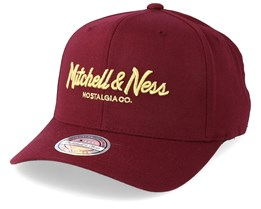 Exclusive Pinscript 110 Maroon Adjustable - Mitchell & Ness