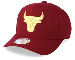 Chicago Bulls Multi 110 Maroon/Gold Adjustable - Mitchell & Ness