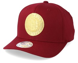 Brooklyn Nets Multi 110 Maroon/Gold Adjustable - Mitchell & Ness
