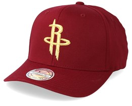 Houston Rockets Multi 110 Maroon/Gold Adjustable - Mitchell & Ness