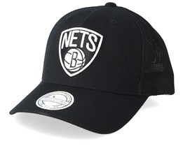 Brooklyn Nets Fuse 110 Black Trucker - Mitchell & Ness