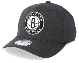 Brooklyn Nets Logo 110 Charcoal Adjustable - Mitchell & Ness