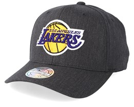 LA Lakers Logo 110 Charcoal Adjustable - Mitchell & Ness