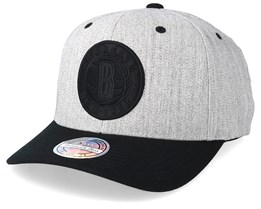 Brooklyn Nets 110 Heather Grey/Black Adjustable - Mitchell & Ness