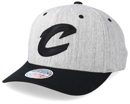 Cleveland Cavaliers 110 Heather Grey/Black Adjustable - Mitchell & Ness