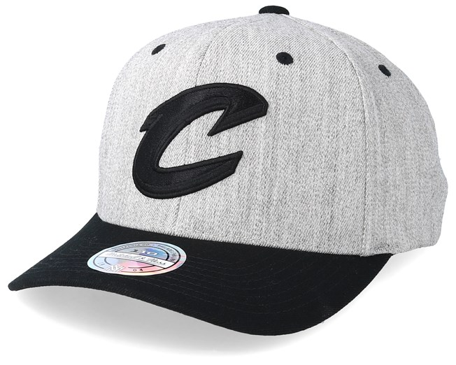 293b69382aca4 Cleveland Cavaliers 110 Heather Grey Black Adjustable - Mitchell   Ness caps  - Hatstoreaustralia.com