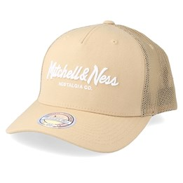 Mitchell & Ness Beige Solid Crown Space Knit Visor Chicago