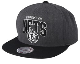 Brooklyn Nets Team Arch Charchoal/Black Snapback - Mitchell & Ness
