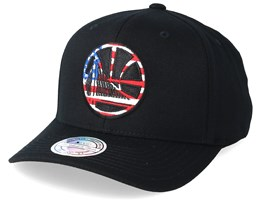 Golden State Warriors USA Logo 110 Black Adjustable - Mitchell & Ness
