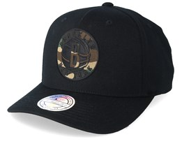 Brooklyn Nets 110 Black/Camo Adjustable - Mitchell & Ness