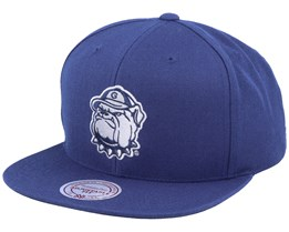 Georgetown Hoyas Core Wool Solid Navy Snapback - Mitchell & Ness