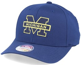 Michigan Wolverine Monochrome Navy 110 Adjustable - Mitchell & Ness