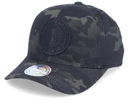 Brooklyn Nets Multi Black Camo 110 Adjustable - Mitchell & Ness