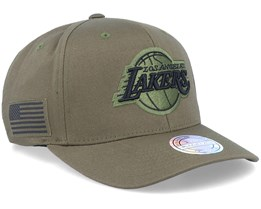 Hatstore Exclusive LA Lakers Veterans Olive - Mitchell & Ness