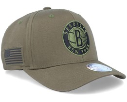 Hatstore Exclusive Brooklyn Nets Veterans Olive - Mitchell & Ness